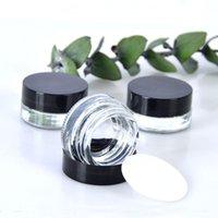ingrosso crema di jar 3g-Contenitore trasparente per ombretti 3g 5g Vaso per balsamo per labbra in vetro vuoto Vaso per campioni cosmetico a bocca larga