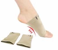 orthopädische schuhgel einlegesohlen großhandel-Silikon Gel Bögen Fußvoll Orthesen Fußorthese Plattfüße Schmerzen lindern Bequeme Schuhe Orthopädische Einlegesohle