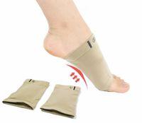 ortopedik ayakkabı jöleleri toptan satış-Silikon Jel Kemerler Footful Ortez Arch Destek Ayak Brace Düz Ayak Ağrı Rahatlatmak Rahat Ayakkabı ortopedik ped astarı