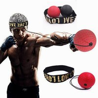 Wholesale fight equipment resale online - New Fighting Ball Boxing Equipment with Head Band for Reflex Speed Training Boxing Punching Balls LJJZ802