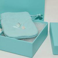 ingrosso orecchino per i set di gioielli delle donne-Orecchini di gioielli di design di lusso fissa 100% 925 orecchini in argento sterling a forma di cuore con orecchini a forma di cuore con scatola originale