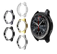 Wholesale galaxy s3 covers online – custom Case for samsung Gear S3 frontier galaxy watch MM soft TPU All Around protective bumper shell replacement cover frame