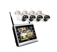 Wholesale cctv channels for sale - Group buy 4CH P Camera LCD Wireless Monitor NVR CCTV Security system H WiFi channel Plug and play surveillance set