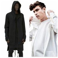 mann capes großhandel-Männer Lange Cape Hoodie Strickjacke Große Umhang Freizeitjacke Herbst-Winter-Jacke Overcoat Outwear Tops