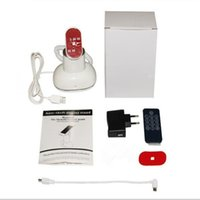 Wholesale mobile holders materials resale online - CJ7000 white color abs material remote control built in buzzer tabletop mobile phone burglar alarm holder