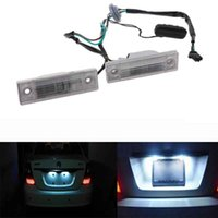 Wholesale cruze switch resale online - 2PCS Rear Back License Plate Light With Trunk Switch Button For Cruze Chevrolet Exterior Auto Lamp Car Light