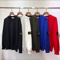 strickpullover um den kragen großhandel-Meistverkaufte neue klassische Modedesigner Pullover Kompass Manschette runder Kragen Pullover männliche und weibliche Luxus-Strickpullover