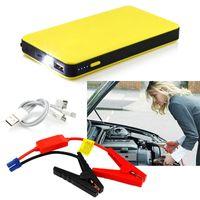 cargadores de batería de coche portátiles al por mayor-8000mAh Jump Starter Auto Car Power Bank Cargador de batería Vehículo Inicio externo Luz LED 12V Accesorios de alta calidad portátiles