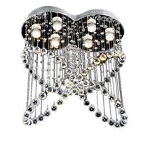 mariposa de cristal claro al por mayor-Moderno restaurante de cristal colgante de luz LED mariposa 6 cabezas lámpara colgante para sala de estar dormitorio hotel villa suspensión