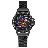 hermosas mujeres reloj al por mayor-pulsera de las mujeres reloj de señoras de acero inoxidable del reloj análogo de cuarzo de la nueva manera de relojes de marcación hermoso simple 30X