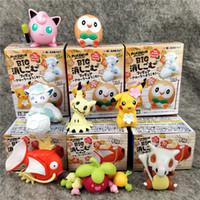 pvc 12 pcs al por mayor-7 cm / 3 pulgadas Pikachu Squid King PVC Figuras de acción Muñeca Decoración Modelo Muñeca de juguete 8 piezas ser Juguetes para niños lol juguetes para niños regalos LA26
