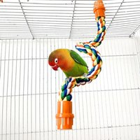 Wholesale bird climbing toys for sale - Group buy Parrot Cotton Standing Rope Perch Bird Climbing Rope Bird Toy Claw Grinding Parrot Toy Cage Accessories