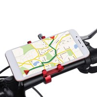 Wholesale motorcycle phone holders online – 100g weight Aluminum Alloy Bicycle Phone Holder Motorcycle Handlebar Mount for for iPhone Samsung Xiaomi smart phone
