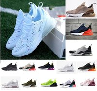 sapatos de corrida de alta qualidade venda por atacado-Discount Promotion Nike Air Max 270 Highest quality men shoes breathable running shoes men and women sneakers with logo sports Casual shoes