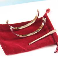 Titanium Steel Rose Gold Silver Screwdriver Mens Charm Screw men Diamond Luxury Designer Jewelry Women Bracelet Love Bracelets Bangles