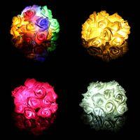 candeeiros de mesa venda por atacado-Eventos 20 LED Subiu Luzes LED Cordas Bateria Decoração de Aniversário de Casamento Iluminações Rose LED Guirlande Lumineuse Não À Prova D 'Água