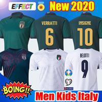 maillot de football blanc pour homme achat en gros de-2019 2020 italy BARELLA SENSI INSIGNE ITALIE maillot de foot 19 20 Coupe d'Europe Renaissance CHIELLINI BELOTTI ITALIE BERNARDESCHI FOOTBALL CHEMISES ensembles hommes et enfants