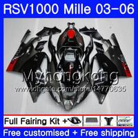 Wholesale aprilia rsv black fairing resale online - Body For Aprilia Black grey hot RSV R RV60 Mille RSV1000 R RR HM RSV1000RR RSV1000R Fairings