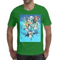 chemises superman super achat en gros de-DC Comics Justice League Superman Flash Batman Aquaman Green Lantern T-shirt Homme col rond Tees à manches courtes Tops Tops green