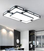 Wholesale celling led light resale online - Simple Modern LED Ceiling Lights For Living Room Bedroom Celling Lamps Black White Indoor Lighting AC90 V Lampara de techo LLFA