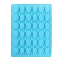 flexible süßigkeiten formen großhandel-Silikon-Eis-Würfel-Behälter Schokolade Formen 36 Cavity Non Stick BPA frei Flexible Fish Design Backen Wachsformen Kleine Eis-Hersteller Moulds