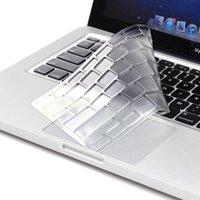 macbook pro tampa do teclado impermeável venda por atacado-NOVA alta transparência nenhuma letra à prova d 'água TPU Keyboard Cover Film Film Protector para MacBook Pro 13 15 17