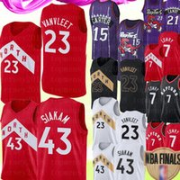 ingrosso fred jersey-Vince Carter 15 Fred 23 VanVleet Jersey NCAA Pascal 43 Siakam Kyle Lowry 7 Jersey Università Marcus Camby 21 2 Leonard Maglie
