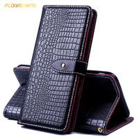 billetera 3g al por mayor-Funda de piel de cocodrilo para Alcatel A3 5046 U5 3G 4047 U5 HD 5047D Shine Lite 5080X One Touch Pop 4 5051D cubierta de la cubierta