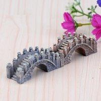 ingrosso miniature garden-2019 resina mini ponte in miniatura paesaggio fata giardino muschio terrario strumento di decorazione artigianato giardino libero