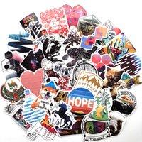 Wholesale world phones resale online - 100 Car Stickers Wonder World Graffiti For Laptop Skateboard Pad Bicycle Motorcycle PS4 Phone Luggage Decal Pvc guitar Helmet Stickers
