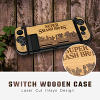Wholesale console housing for sale - Group buy Dustproof Protective Cover For Switch Console Wood Case Anti Slip Housing Shell Part Design Separated Carry Case