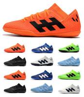 sapatos ronaldo frete grátis venda por atacado-2019 Frete Grátis Homens Nemeziz Messi Tango 18.3 Sapatos de Futebol TF Neymar Ronaldo Ao Ar Livre Sapatos de Futebol de Salto Baixo Nemeziz IC Chuteiras de futebol