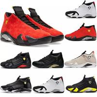 zapatos de caramelos rojos al por mayor-Nueva 14s 14 para hombre zapatillas de baloncesto de arena del desierto de DMP último disparo Indiglo Trueno Rojo ante de los hombres oxidó el caramelo de caña de diseño zapatillas deportivas