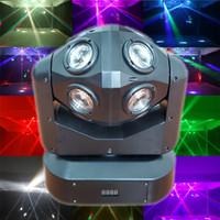 iluminación de haz en movimiento al por mayor-Luces de DJ Luz de escenario LED Luz de cabeza móvil Luces de fiesta DMX-512 Led de sonido de Navidad LED activo por luz de DJ