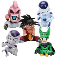 Wholesale anime cell for sale - Group buy 11cm Anime Dragon Ball Fighter Z Majin Buu Cell PVC Action Figure Toys Model Kid Buu Freeza frieza Fina From Y190529
