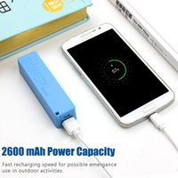 Wholesale 2600mah power bank for sale – best QiChen mAh Power Banks Mini USB Portable Charger Backup Battery Charger For HTC SamsungS10 S8 Plus univeresal smartphon