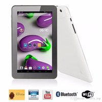 Wholesale andriod tablet white online - Quad Core inch A33 Tablet PC with Bluetooth flash GB RAM GB ROM Allwinner A33 Andriod Ghz US01
