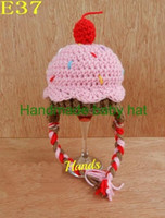 Wholesale newborn cotton beanie hats resale online - Baby Crochet Knitted Cap Winter Cupcake Beanie Children Halloween Christmas Caps Boys Girls Kids Ice Cream Hat Newborn Infant Toddler Cotton