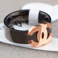 ingrosso anelli di diamanti di qualità-Alta qualità Europa e America Marca 18K oro rosa anello Lettera titanio acciaio donna anello coda anello diamante Amore anelli coppia all'ingrosso