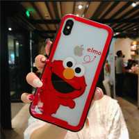 Wholesale cookies case resale online - Mytoto New Sesame Street Cute Cartoon Cookie Elmo Soft Side leather case for iPhone s plus X XR XS MAX luxury Phone cover
