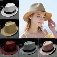 Wholesale cool hats for kids for sale - Group buy 2016 New Fashion Kids Boys Girls Unisex Fedora Hats Cap for Children Contrast Trim Cool Jazz Chapeu Feminino Trilby Sombreros colors