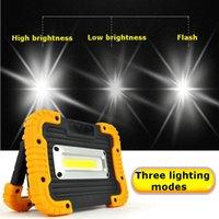 ingrosso lampada di emergenza principale 5v-3 modalità ricaricabile portatile 10W COB LED Spotlight LED luce di inondazione ricaricabile lampada da lavoro di emergenza per la pesca 5V
