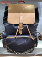 dağ çantası kadınları toptan satış-Toptan Dağ sırt çantası Trio Bosphore 44658 oksitleyici deri çift Omuz zincir sırt çantası seyahat çantası erkekler kadınlar okul çantası Ücretsiz Gemi
