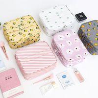 Wholesale make light panel resale online - New cosmetic bags make up bag woman handbag air hostess travel bag Cosmetic case