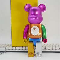 Wholesale toy sharks for sale - Group buy Newset CM Bearbrick Evade glue The shark style of figures Toys For Collectors Be rbrick Art Work model decorations gift