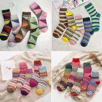 Wholesale 5 Pairs Brand New Women Thick Warm Wool Cashmere Soft Solid Casual Cotton Socks Winter Colorful Warm Socks