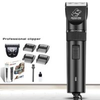 Wholesale electric hair cutters online - Portable Removable Shavers Black Anti Wear Electric Dog Hair Clipper Cutter Pet Grooming Trimming Kit Pet Supplies Pieces DHL