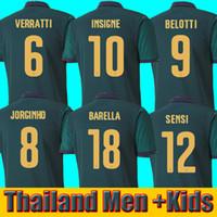futebol italia venda por atacado-2019 2020 BARELLA SENSI INSIGNE ITÁLIA Camisa de futebol 19 20 Copa da Europa Renascença CHIELLINI BELOTTI BERNARDESCHI FUTEBOL CAMISETAS homens crianças