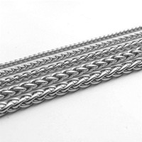 Wholesale necklace hip hop titanium steel for sale - Group buy 316 Stainless Steel Chain Necklaces Hip Hop for Men Women DIY Jewelry Accessories Titanium Steel Keel Link Necklaces DHL