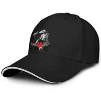 homens do traje do coração venda por atacado-Barato homens mulheres camionista cap tom petty RED HEART HAT costume equipado chapéus de beisebol logotipo chapéus 100% algodão